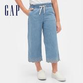 Gap女童甜美鏤空刺繡牛仔褲567451-靛藍精紡斜紋布