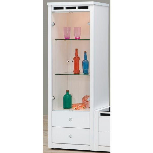 展示櫃 客廳櫃 高低櫃 CV-403-9 貝多美白色2.17尺展示櫃【大眾家居舘】