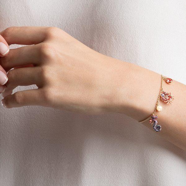 施華洛世奇 Ocean 金色海馬螃蟹海星珍珠手鏈