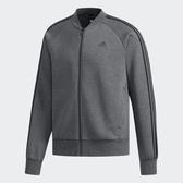 ADIDAS COMM BOMB 3S 男裝 外套 棒球外套 立領 休閒 慢跑 棉質 舒適 灰【運動世界】DW4658