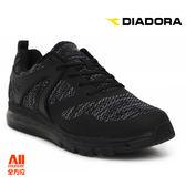 【Diadora 迪亞多那】男款 休閒運動鞋-編織黑(D6050)全方位跑步概念館