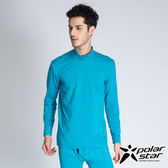 PolarStar 高領遠紅外線發熱衣 男 藍綠 P14231