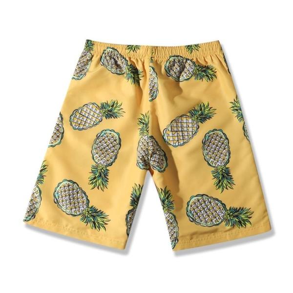 沙灘褲男騷氣海邊度假泰國防尷尬泳褲大碼印花寬鬆運動休閒五分褲