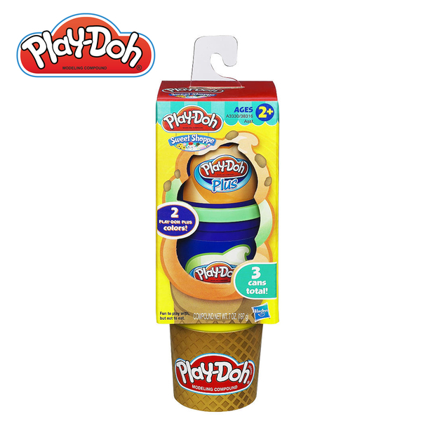 Play-Doh培樂多-黏土補充罐-蛋捲冰淇淋組