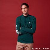 【GIORDANO】男裝立體刺繡撞色長袖POLO衫-02 深藍綠