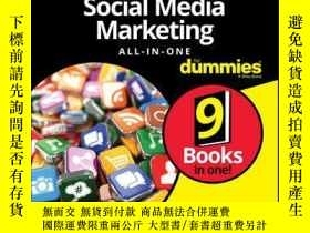 二手書博民逛書店Social罕見Media Marketing All-in-One For Dummies, 4th Editi
