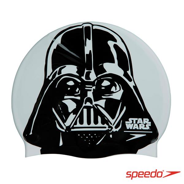 SPEEDO 成人矽膠泳帽 Slogan Print 達斯維達【線上體育】SD808385C854