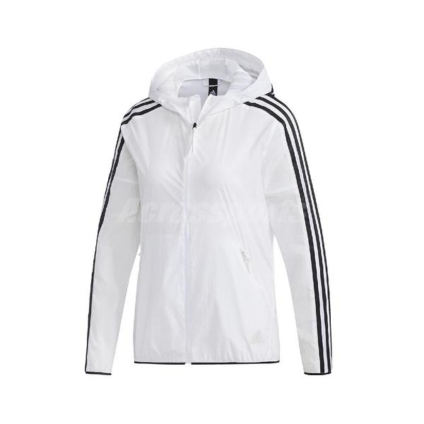 adidas 外套 Windbreaker 3S Jacket 白 黑 女款 風衣 運動 訓練 【ACS】 FT2881