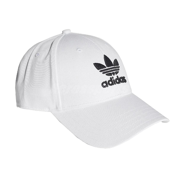 adidas 帽子 Trefoil Baseball Cap 白 黑 男女款 老帽 棒球帽 【PUMP306】 FJ2544