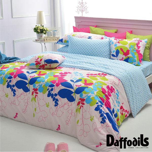 Daffodils《夏沐漾語》雙人加大三件式純棉枕套床包組.精梳純棉/台灣精製