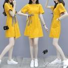 小個子洋裝女夏裝2021新款設計感小眾氣...