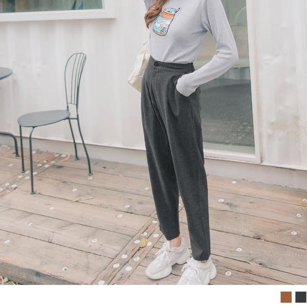 《BA5305》後腰鬆緊純色打摺休閒西裝褲 OrangeBear