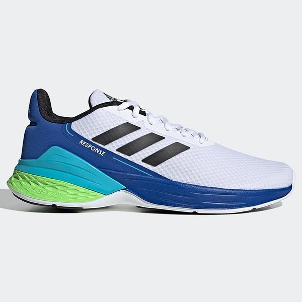 ADIDAS RESPONSE SR 男鞋 慢跑 休閒 避震 透氣 白 藍綠【運動世界】FX3789