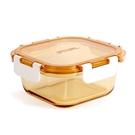 美國康寧 Pyrex正方型500ml透明玻璃保鮮盒【淨妍美肌】