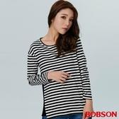 BOBSON 女款百摺拼接條紋上衣(38077-88 )