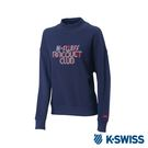 K-SWISS Round Sweat Shirts 圓領長袖上衣-女-藍