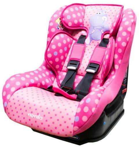 [ 家事達 ] 法國納尼亞NANIA- 0-4歲-兒童汽車安全座椅-河馬粉 特價