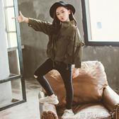 女童外套夾克秋裝新款中大童洋氣韓版兒童短款裝寬鬆外衣潮 蘿莉小腳ㄚ