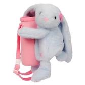 FUNDAY-抱抱小兔水壺袋(粉藍)