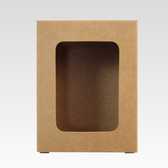 【香草工房】簡約皂盒 長框牛皮紙20 入組