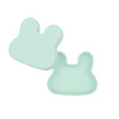 澳洲We Might Be Tiny 矽膠防滑便當盒兔寶寶-薄荷綠