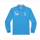 KAPPA義大利 時尚吸濕排汗型男長袖POLO衫 義大利藍 351383WX7F