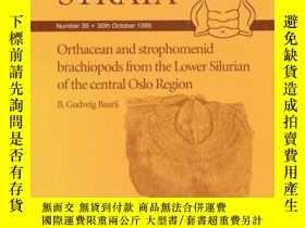 二手書博民逛書店Orthacean罕見and Strophomenid Brachiopods from the Lower Si