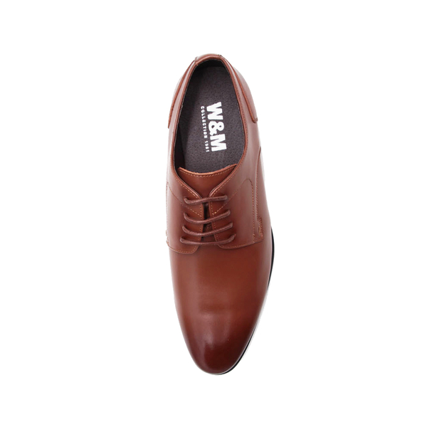 W&M(男)氣墊感 素面綁帶皮鞋 男鞋-棕(另有黑)