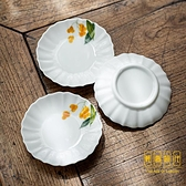 陶瓷手繪枇杷茶杯墊小碟子茶杯托家用隔熱墊底座茶藝【輕奢時代】