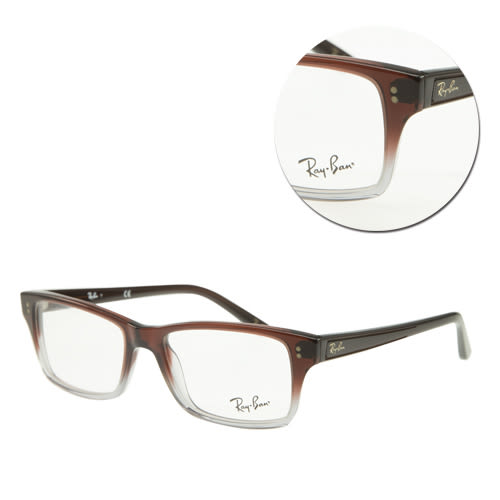 【Ray Ban】方框棕色透明光學眼鏡(RB5225-5034 棕色透明)