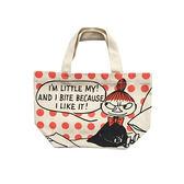 點點款【日本正版】嚕嚕米 帆布 手提袋 便當袋 午餐袋 小不點 MOOMIN - 139421