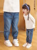 牛仔褲女童牛仔褲春秋洋氣兒童外穿防蚊休閒春裝1歲3小童薄女寶寶長褲子 新品