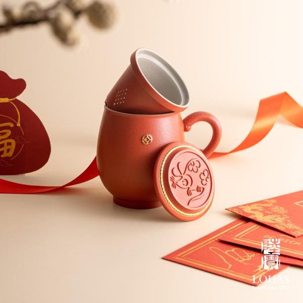陸寶茶器 歲歲年豐蓋杯 鼠慶豐年 新品上市