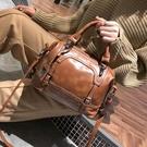手提包 包包女2020新款 潮波士頓女士大包 復古休閒大容量單肩斜挎包 店慶降價
