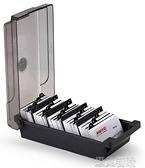 名片座杰麗斯大容量名片盒名片收納盒桌面塑料名片架批量收納分類整理名片夾商 快速出貨