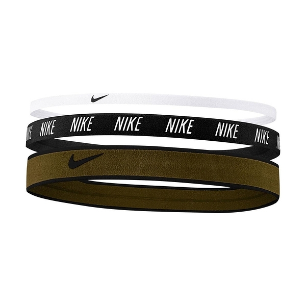 Nike Mixed Width [N0002548129OS] 髮帶 髮束 運動 止滑 3入 黑白咖