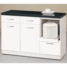 【森可家居】雅典娜4尺石面收納櫃下座 10CM944-2 白色 餐櫃 廚房櫃 中島 碗盤碟櫃