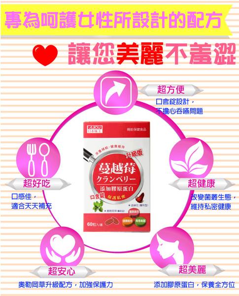 日本味王 蔓越莓口含錠 升級版 60粒【德芳保健藥妝】