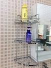 衛浴 浴室 不銹鋼三層轉角置物架 收納網...