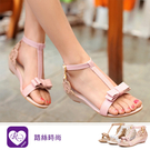 優雅浪漫蝴蝶結造型水鑽低跟羅馬涼鞋/3色/35-43碼 (RX1504-C-18) iRurus 路絲時尚