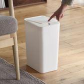 懶角落 創意手按垃圾桶有蓋家用衛生間臥室客廳垃圾筒帶蓋 芥末原創