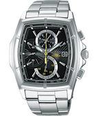 WIRED 世紀之戰三眼計時手錶(7T82-X003D)-黑