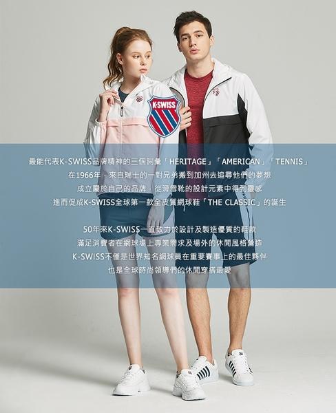 K-SWISS Vintage Knit Shorts棉質短褲-男-藍