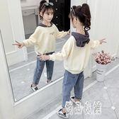 女童套裝2019新款韓版秋季6歲8兒童裝時髦洋氣女孩中大童秋裝 LR12028【優品良鋪】