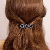 韓版水晶發夾彈簧夾韓版復古花朵盤發發卡頭飾發飾品頂夾發飾橫夾「韓風物語」