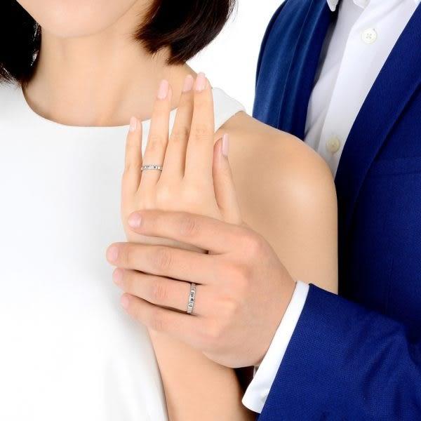 點睛品 Promessa系列 相愛一生鉑金情侶對戒(女戒)