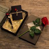 禮盒復古禮物盒 送帶燈禮品盒 創意仿古發光情人節禮盒包裝盒硬紙大號-凡屋