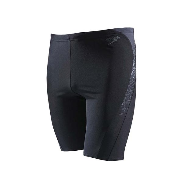 SPEEDO 運動泳褲Boom Splice 及膝泳褲 抗氯 快乾 SD810856B443黑 [陽光樂活](A4)