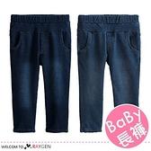 兒童個性簡約口袋加絨牛仔褲 中/長褲