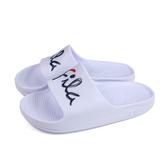 FILA 拖鞋 戶外 防水 女鞋 白色 4-S326U-123 no074
